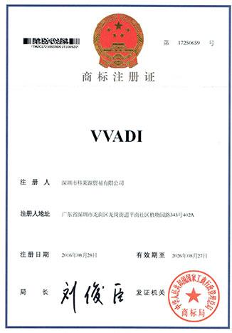 VVADI Trademark  Category 35