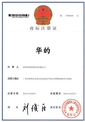 Trademark Certificate Category 35